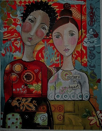 click here to view larger image of Sisters in Heart (hand painted canvases)