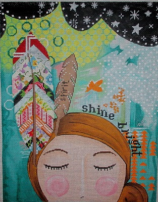 click here to view larger image of Shine Bright (hand painted canvases)