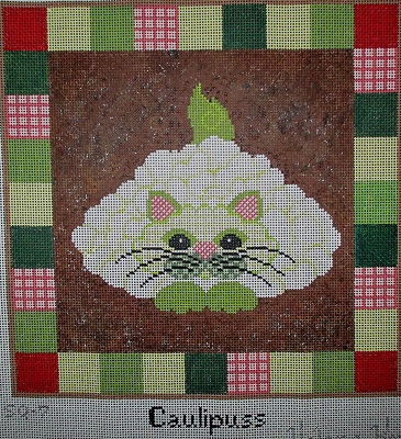 click here to view larger image of Caulipuss - 13 Count (hand painted canvases)