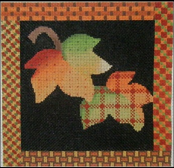 click here to view larger image of Fall Leaves Quilt (hand painted canvases)