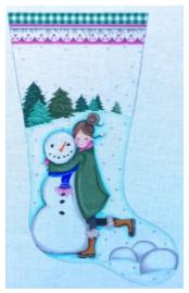 click here to view larger image of Everyone Needs A Hug Stocking (hand painted canvases)