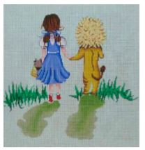 click here to view larger image of Dorothy and Lion (hand painted canvases)