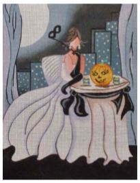 click here to view larger image of Halloween Ball (hand painted canvases)