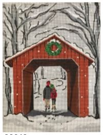 click here to view larger image of Covered Bridge (hand painted canvases)