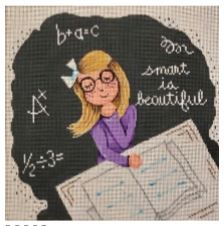 click here to view larger image of Smart is Beautiful (hand painted canvases)