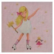 click here to view larger image of Roller Skating Princess (hand painted canvases)