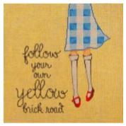 click here to view larger image of Follow Your Own Yellow Brick Road (hand painted canvases)