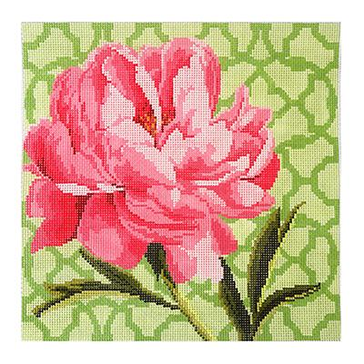 click here to view larger image of Trellis Square - Peony (hand painted canvases)