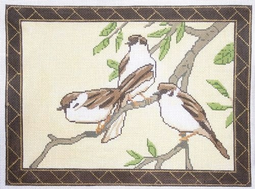 click here to view larger image of Three Sparrows (hand painted canvases)