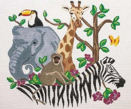 click here to view larger image of Safari Animals (hand painted canvases)
