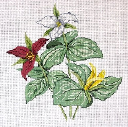 click here to view larger image of Wildflower Trillium - Large (hand painted canvases)