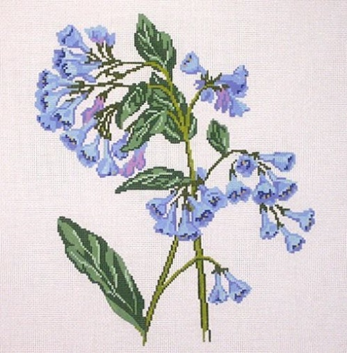 click here to view larger image of Wildflower Virginia Bluebells (hand painted canvases)