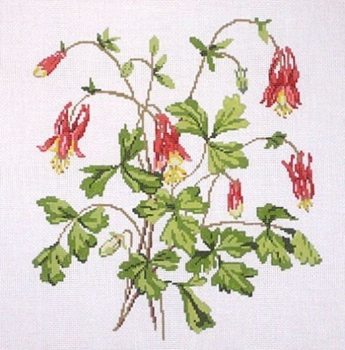 click here to view larger image of Wildflower Columbine (hand painted canvases)