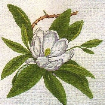 click here to view larger image of Wildflower Virginia Magnolia (hand painted canvases)