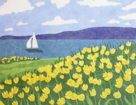 click here to view larger image of Daffodil Beach (hand painted canvases)