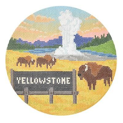 click here to view larger image of Explore America - Yellowstone (hand painted canvases)