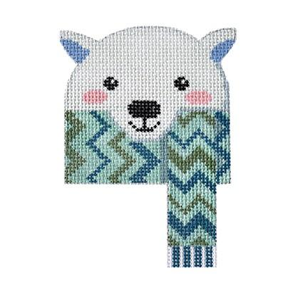 click here to view larger image of Cozy Critters - Polar Bear (hand painted canvases)