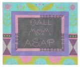 click here to view larger image of Call Mom ASAP - Lavender (hand painted canvases)