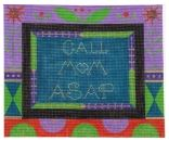click here to view larger image of Call Mom ASAP - Black (hand painted canvases)
