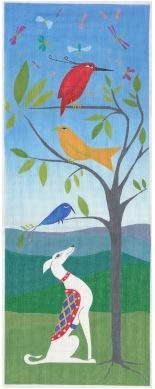 click here to view larger image of White Dog (hand painted canvases)