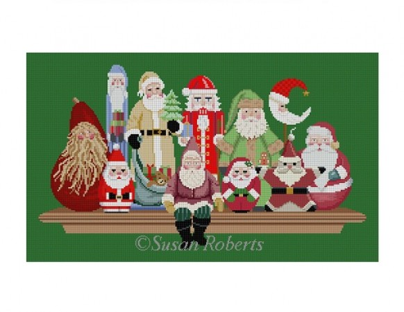 click here to view larger image of Santa Collection (hand painted canvases)