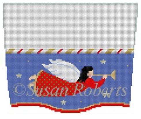 click here to view larger image of Angel Flying Stocking Topper (hand painted canvases)