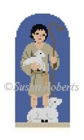 click here to view larger image of Shepherd Boy Nativity (hand painted canvases)