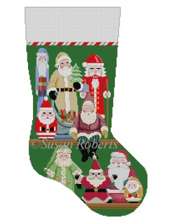 click here to view larger image of Santa Collection Stocking (hand painted canvases)