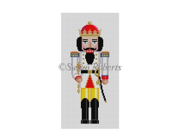 click here to view larger image of White King Nutcracker (hand painted canvases)