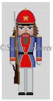click here to view larger image of Rifle Guard Nutcracker (hand painted canvases)
