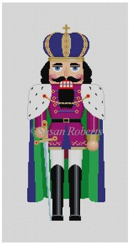 click here to view larger image of Caped King Nutcracker (hand painted canvases)