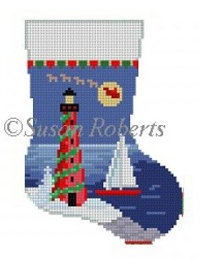 click here to view larger image of Lighthouse Mini Sock (hand painted canvases)