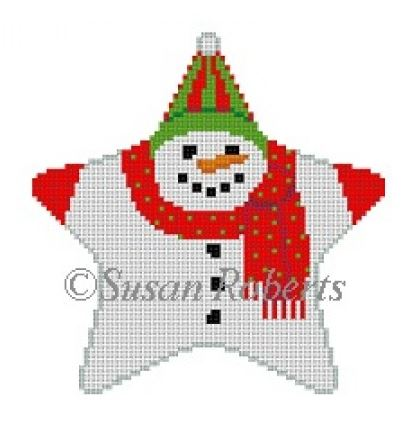 click here to view larger image of Snowman Star (hand painted canvases)