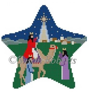 click here to view larger image of Three Kings Star (hand painted canvases)