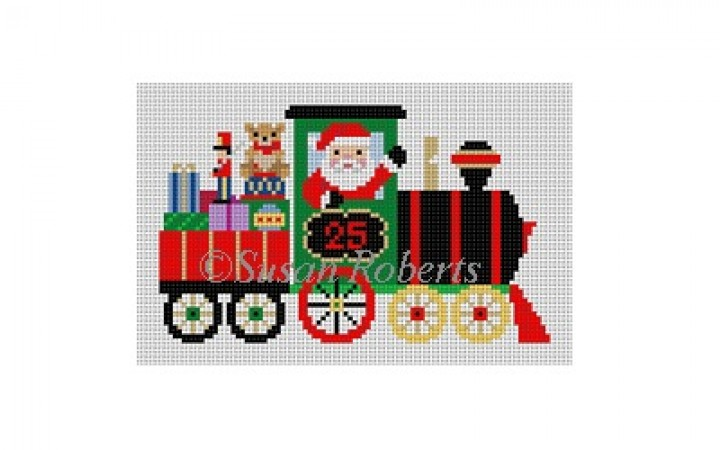 click here to view larger image of Train Santa (hand painted canvases)