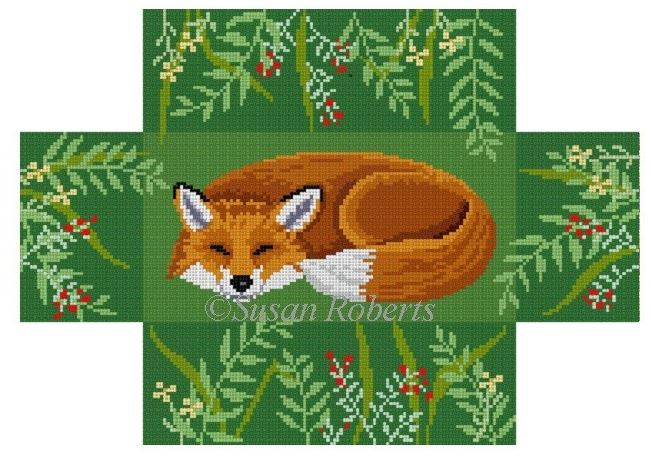 click here to view larger image of Sleeping Fox (hand painted canvases)