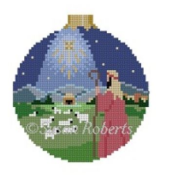 click here to view larger image of Shepherd Nativity Ornament (hand painted canvases)