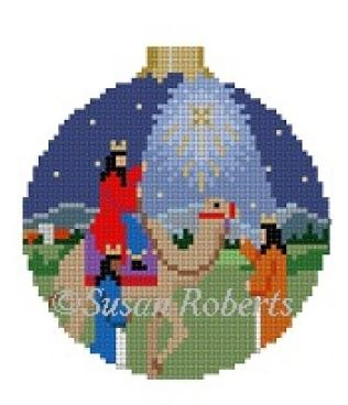 click here to view larger image of Three Kings Nativity Ornament (hand painted canvases)
