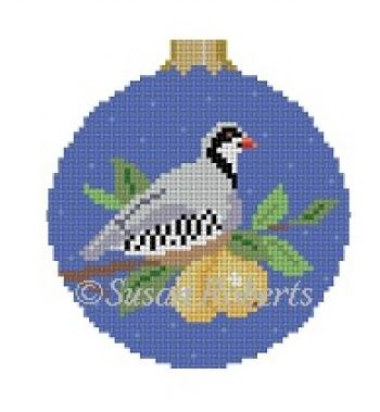 click here to view larger image of Pear Tree Partridge Ornament (hand painted canvases)