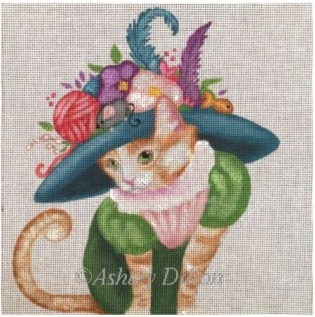 click here to view larger image of Pretty Kitty (hand painted canvases)