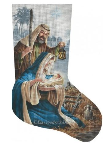 click here to view larger image of Miracle in Bethlehem Stocking (hand painted canvases)