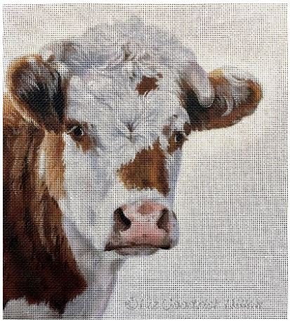 click here to view larger image of Moo, Guernsey cow portrait (hand painted canvases)