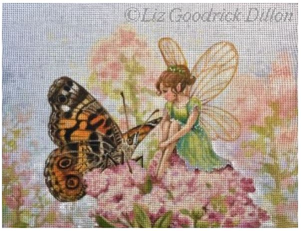 click here to view larger image of Butterfly and Fairy (hand painted canvases)