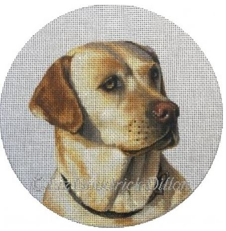 click here to view larger image of Yellow Lab (hand painted canvases)