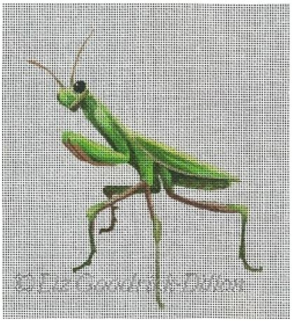 click here to view larger image of Praying Mantis (hand painted canvases)