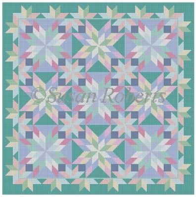 click here to view larger image of Beach Glass Starburst (hand painted canvases)