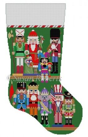click here to view larger image of Nutcracker Collection Stocking (hand painted canvases)