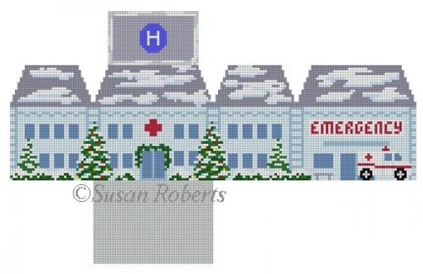 click here to view larger image of Hospital Mini House (hand painted canvases)