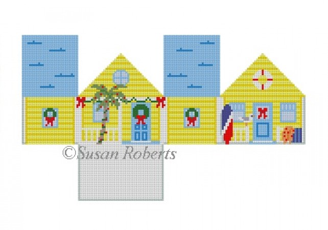 click here to view larger image of Yellow Beach House (hand painted canvases)