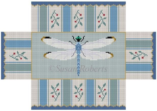 click here to view larger image of Dragonfly Brickcover (hand painted canvases)